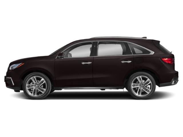Black Copper Pearl 2018 Acura MDX Pictures MDX Utility 4D Advance DVD AWD photos side view