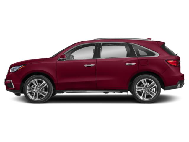 San Marino Red 2018 Acura MDX Pictures MDX Utility 4D Advance DVD AWD photos side view