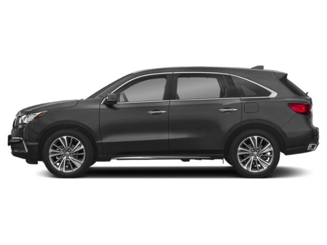 Modern Steel Metallic 2018 Acura MDX Pictures MDX Utility 4D Technology DVD AWD photos side view
