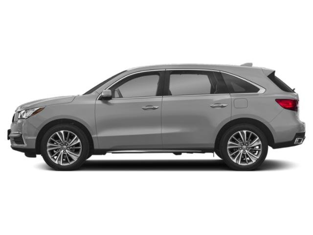 Lunar Silver Metallic 2018 Acura MDX Pictures MDX Utility 4D Technology DVD AWD photos side view