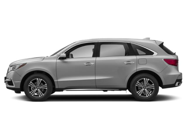 Lunar Silver Metallic 2018 Acura MDX Pictures MDX Utility 4D AWD photos side view