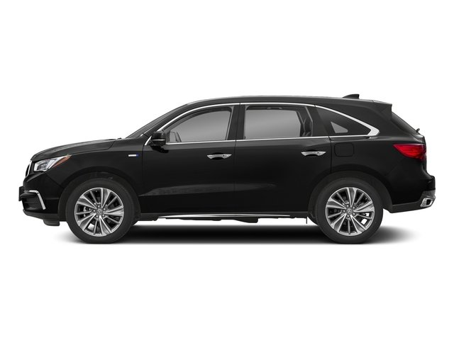 Crystal Black Pearl 2018 Acura MDX Pictures MDX SH-AWD Sport Hybrid w/Technology Pkg photos side view