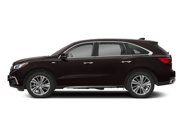 Black Copper Pearl 2018 Acura MDX Pictures MDX SH-AWD Sport Hybrid w/Technology Pkg photos side view