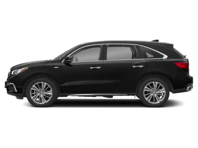 Crystal Black Pearl 2018 Acura MDX Pictures MDX Utility 4D Advance AWD Hybrid photos side view