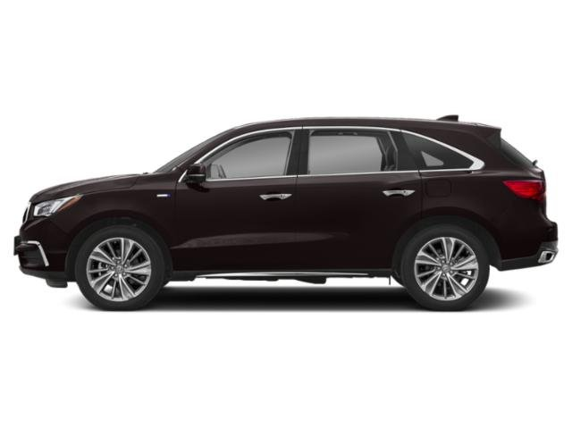 Black Copper Pearl 2018 Acura MDX Pictures MDX Utility 4D Advance AWD Hybrid photos side view