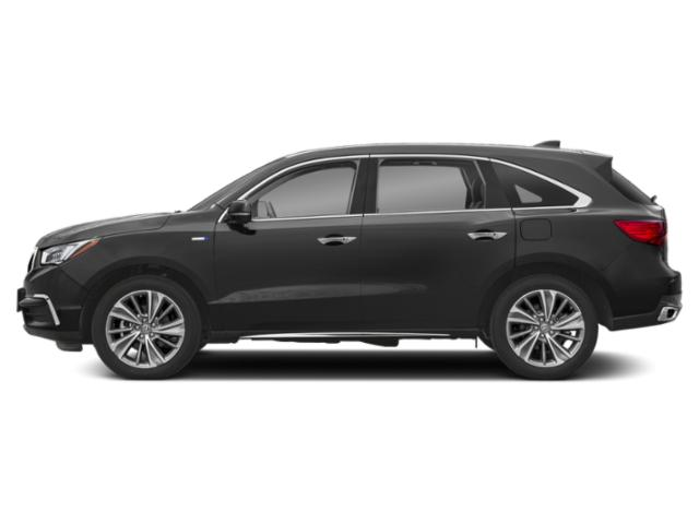 Modern Steel Metallic 2018 Acura MDX Pictures MDX Utility 4D Advance AWD Hybrid photos side view
