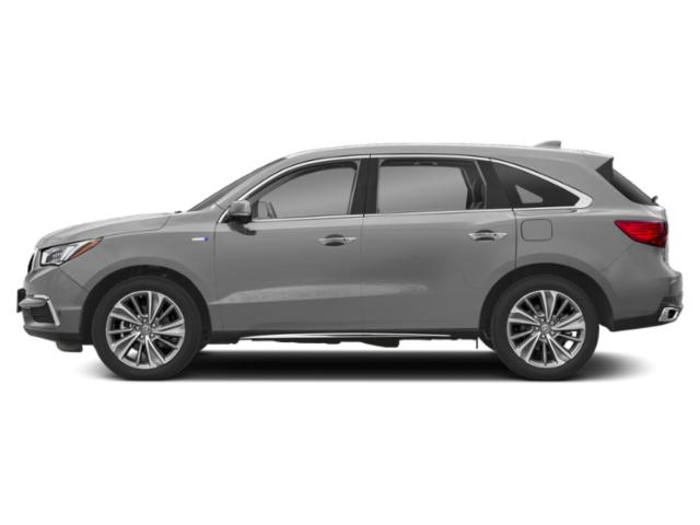 Lunar Silver Metallic 2018 Acura MDX Pictures MDX Utility 4D Technology AWD Hybrid photos side view