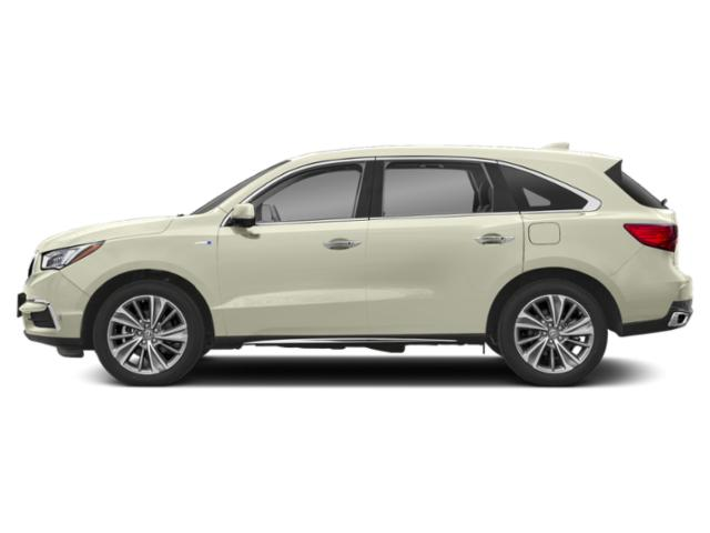 White Diamond Pearl 2018 Acura MDX Pictures MDX Utility 4D Advance AWD Hybrid photos side view