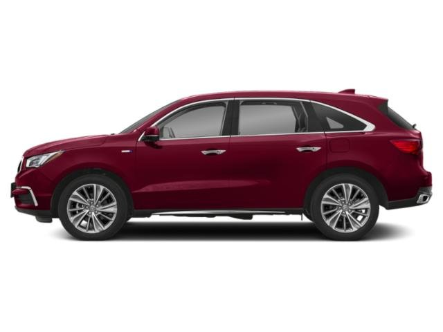 San Marino Red 2018 Acura MDX Pictures MDX Utility 4D Advance AWD Hybrid photos side view