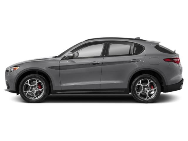 Silverstone Gray Metallic 2018 Alfa Romeo Stelvio Pictures Stelvio Ti Sport AWD photos side view