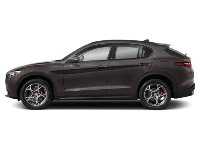 Vesuvio Gray Metallic 2018 Alfa Romeo Stelvio Pictures Stelvio Ti Sport AWD photos side view