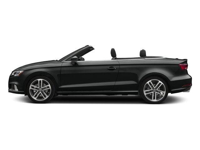 Mythos Black Metallic/Black Roof 2018 Audi A3 Cabriolet Pictures A3 Cabriolet 2.0 TFSI Premium quattro AWD photos side view
