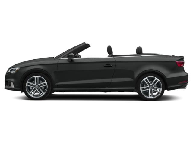 Mythos Black Metallic/Black Roof 2018 Audi A3 Cabriolet Pictures A3 Cabriolet 2.0 TFSI Prestige FWD photos side view