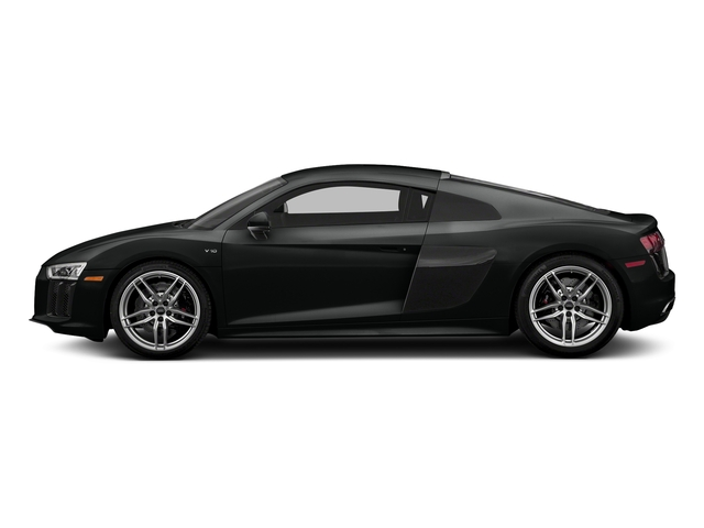 Mythos Black Metallic 2018 Audi R8 Coupe Pictures R8 Coupe V10 quattro AWD photos side view