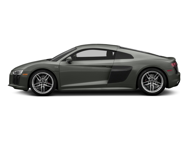 Daytona Gray Pearl Effect 2018 Audi R8 Coupe Pictures R8 Coupe V10 quattro AWD photos side view