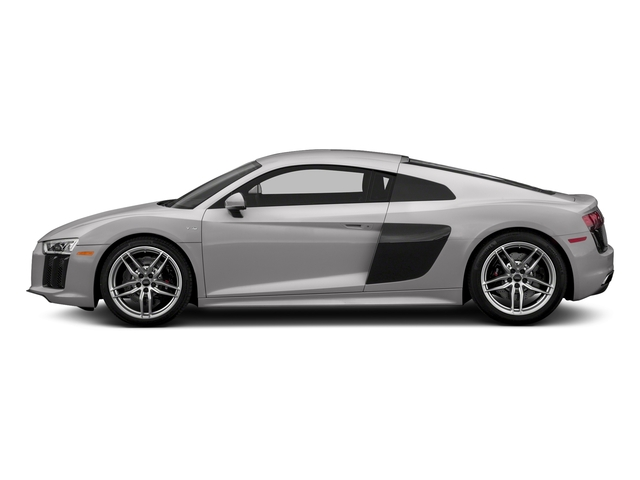 Florett Silver Metallic 2018 Audi R8 Coupe Pictures R8 Coupe V10 quattro AWD photos side view