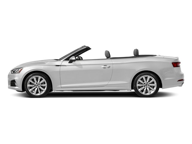 Glacier White Metallic/Black Roof 2018 Audi A5 Cabriolet Pictures A5 Cabriolet 2.0 TFSI Premium photos side view