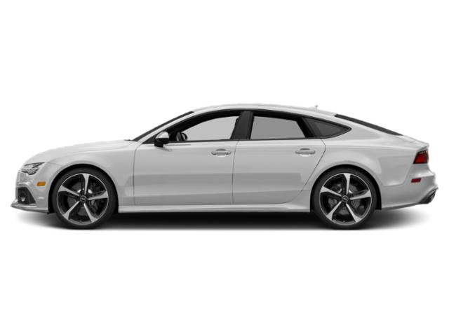 Glacier White Metallic 2018 Audi RS 7 Pictures RS 7 Sedan 4D RS7 Performance AWD photos side view