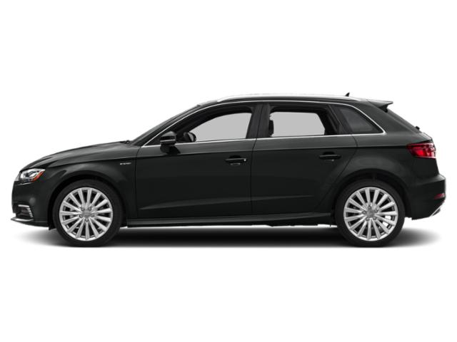 Mythos Black Metallic 2018 Audi A3 Sportback e-tron Pictures A3 Sportback e-tron Hatchback 5D E-tron Prestige photos side view