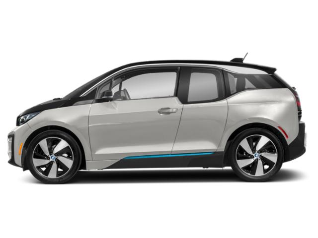 Capparis White w/BMW i Frozen Blue Accent 2018 BMW i3 Pictures i3 Hatchback 4D S w/Range Extender photos side view