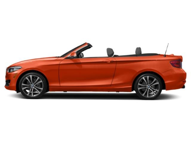 Sunset Orange Metallic 2018 BMW 2 Series Pictures 2 Series Convertible 2D 230xi AWD photos side view