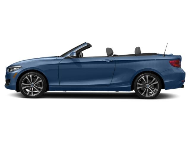 Estoril Blue Metallic 2018 BMW 2 Series Pictures 2 Series Convertible 2D 230xi AWD photos side view