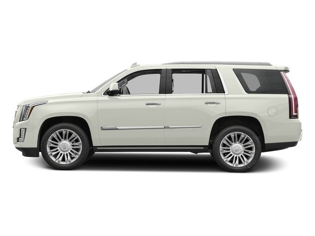 Crystal White Tricoat 2018 Cadillac Escalade Pictures Escalade Utility 4D Platinum 4WD V8 photos side view