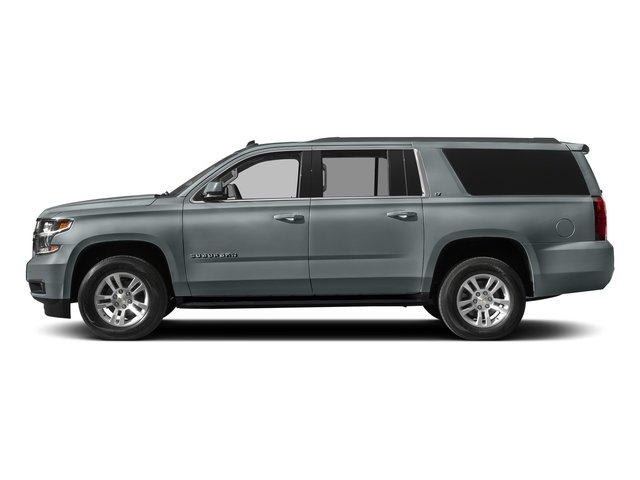 Satin Steel Metallic 2018 Chevrolet Suburban Pictures Suburban 4WD 4dr 1500 LT photos side view