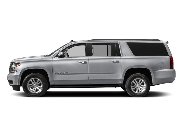 Silver Ice Metallic 2018 Chevrolet Suburban Pictures Suburban 4WD 4dr 1500 LT photos side view