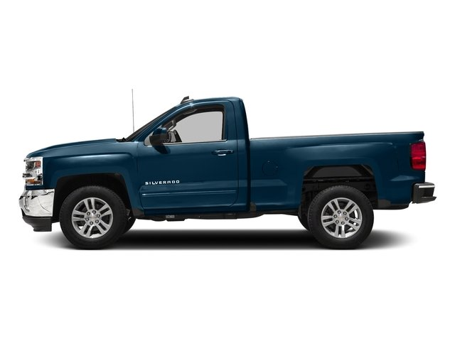 Deep Ocean Blue Metallic 2018 Chevrolet Silverado 1500 Pictures Silverado 1500 4WD Reg Cab 133.0 LT w/2LT photos side view