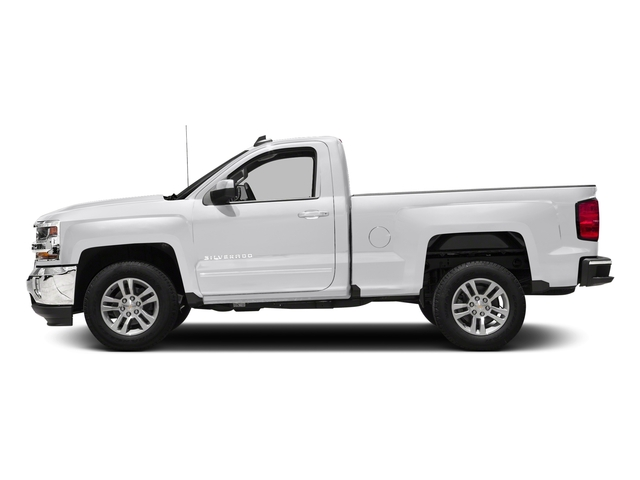 Summit White 2018 Chevrolet Silverado 1500 Pictures Silverado 1500 4WD Reg Cab 133.0 LT w/2LT photos side view