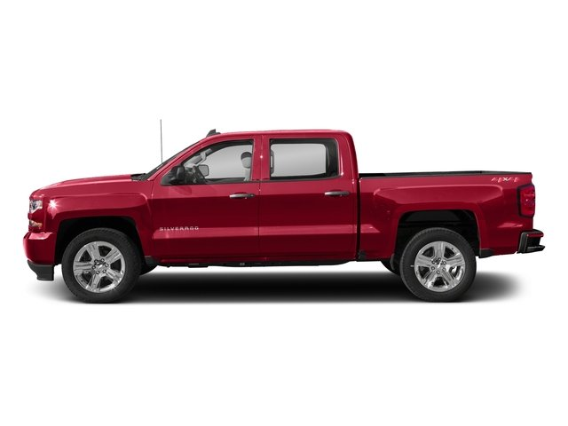 Red Hot 2018 Chevrolet Silverado 1500 Pictures Silverado 1500 4WD Crew Cab 143.5 Custom photos side view