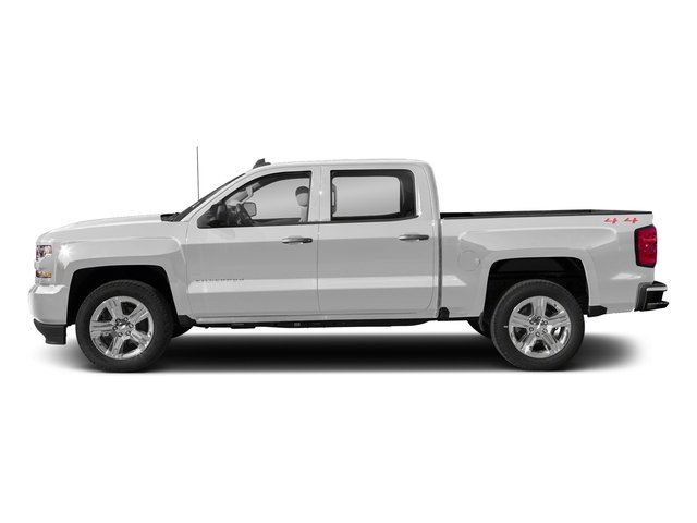 Silver Ice Metallic 2018 Chevrolet Silverado 1500 Pictures Silverado 1500 4WD Crew Cab 143.5 Custom photos side view