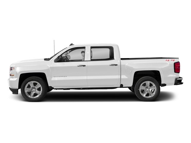 Summit White 2018 Chevrolet Silverado 1500 Pictures Silverado 1500 4WD Crew Cab 143.5 Custom photos side view