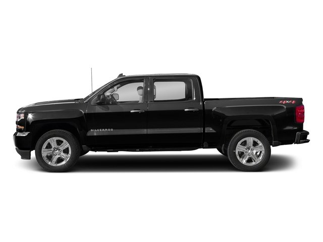 Black 2018 Chevrolet Silverado 1500 Pictures Silverado 1500 4WD Crew Cab 143.5 Custom photos side view