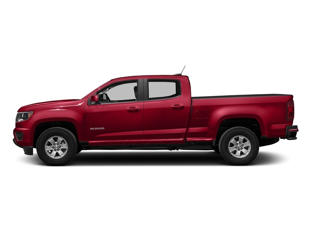 Red Hot 2018 Chevrolet Colorado Pictures Colorado 2WD Crew Cab 128.3 Work Truck photos side view