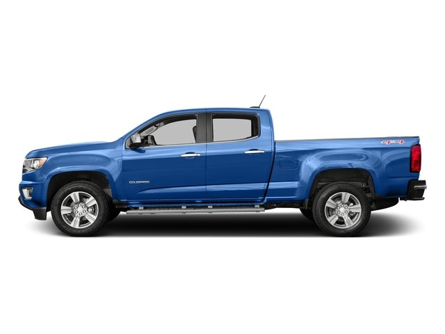 Kinetic Blue Metallic 2018 Chevrolet Colorado Pictures Colorado 2WD Crew Cab 140.5 LT photos side view
