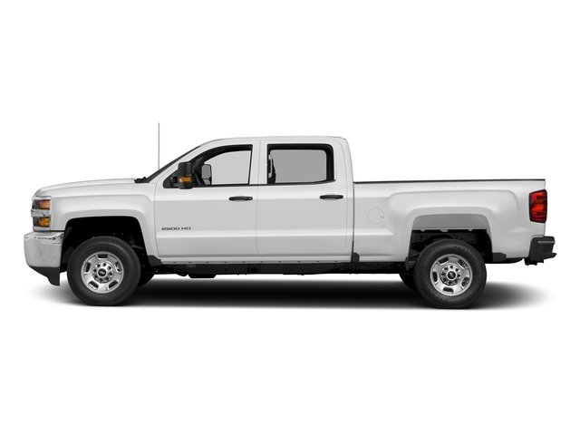 Summit White 2018 Chevrolet Silverado 2500HD Pictures Silverado 2500HD 4WD Crew Cab 167.7 Work Truck photos side view