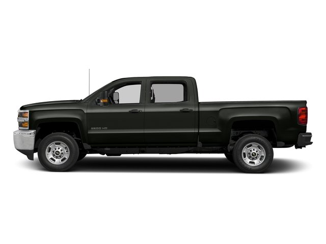 Graphite Metallic 2018 Chevrolet Silverado 2500HD Pictures Silverado 2500HD 4WD Crew Cab 167.7 Work Truck photos side view