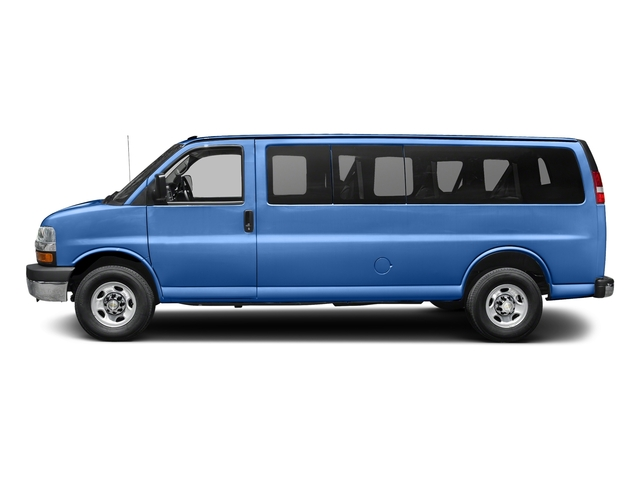 Kinetic Blue Metallic 2018 Chevrolet Express Passenger Pictures Express Passenger RWD 3500 155 LT photos side view