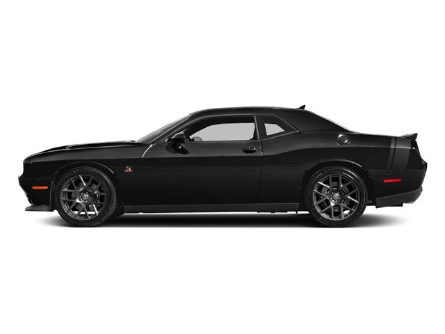Pitch Black Clearcoat 2018 Dodge Challenger Pictures Challenger 392 Hemi Scat Pack Shaker RWD photos side view