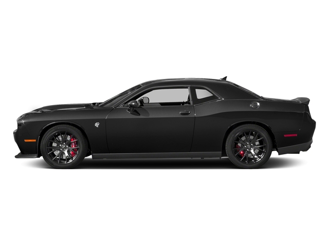 Pitch Black Clearcoat 2018 Dodge Challenger Pictures Challenger SRT Hellcat RWD photos side view