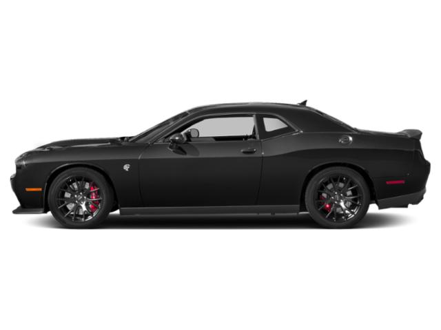 Pitch Black Clearcoat 2018 Dodge Challenger Pictures Challenger SRT Hellcat Widebody RWD photos side view