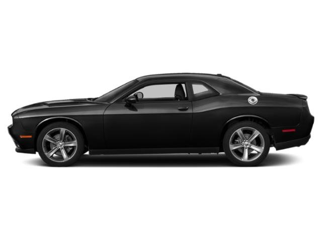 Pitch Black Clearcoat 2018 Dodge Challenger Pictures Challenger SXT RWD photos side view