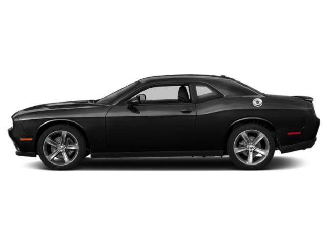 Pitch Black Clearcoat 2018 Dodge Challenger Pictures Challenger SXT Plus RWD photos side view