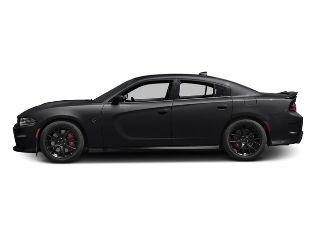 Pitch Black Clearcoat 2018 Dodge Charger Pictures Charger SRT Hellcat RWD photos side view