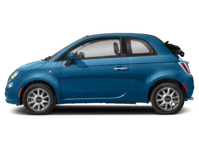 Laser Blue Metallic 2018 FIAT 500c Pictures 500c Lounge Cabrio photos side view