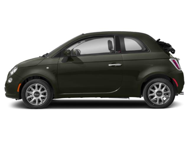 Oliva Green Pearl 2018 FIAT 500c Pictures 500c Lounge Cabrio photos side view