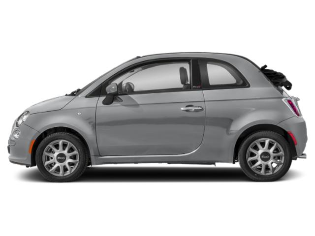 Pompei Silver 2018 FIAT 500c Pictures 500c Lounge Cabrio photos side view