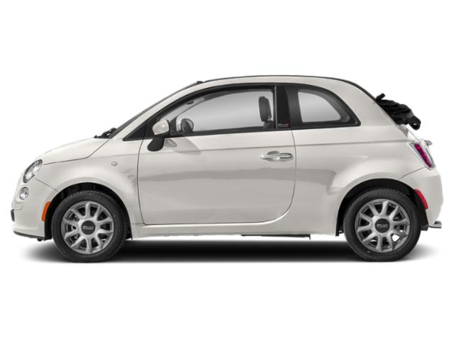 Bianco White Ice 2018 FIAT 500c Pictures 500c Lounge Cabrio photos side view